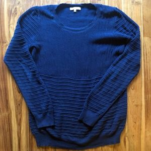 Madewell Navy Linear Stitch Sweater Size Large